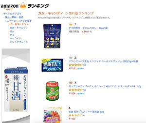 Amazonグミ販売ランキングで「1位」獲得!